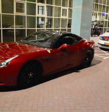 Politie neemt Ferrari van 360.000 euro uit trouwstoet in beslag
